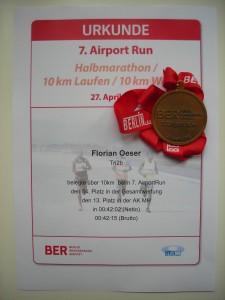 Urkunde 7. Airport Run