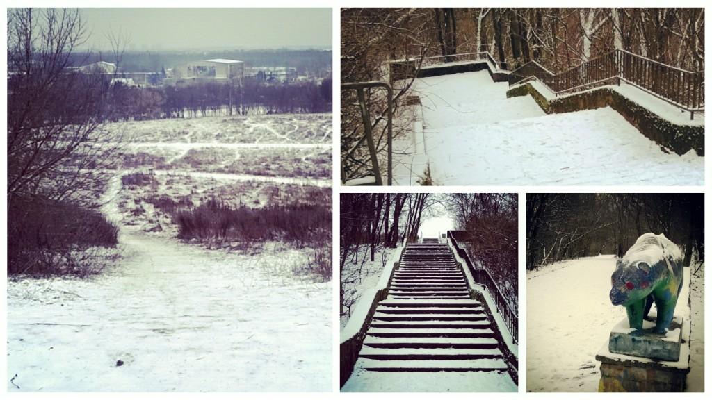 Training im Winter.